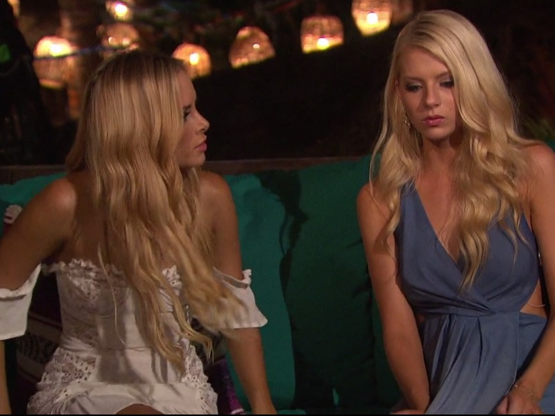 Amanda Stanton's White Lace Off-The-Shoulder Dress on Bachelor in Paradise