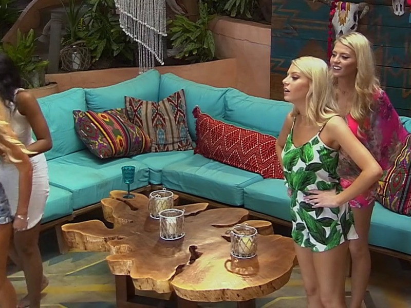 Emily Ferguson's Leaf Print Romper on Bachelor in Paradise