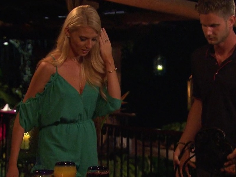 Haley Ferguson's Green Ruffle Romper on Bachelor in Paradise
