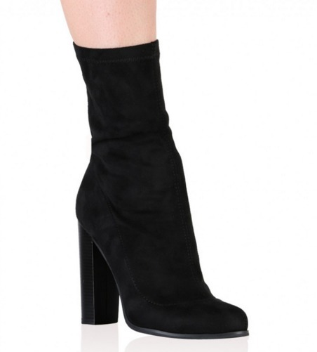 4aa5186d6925 Public Desire FLORENCE ANKLE BOOTS IN BLACK FAUX SUEDE