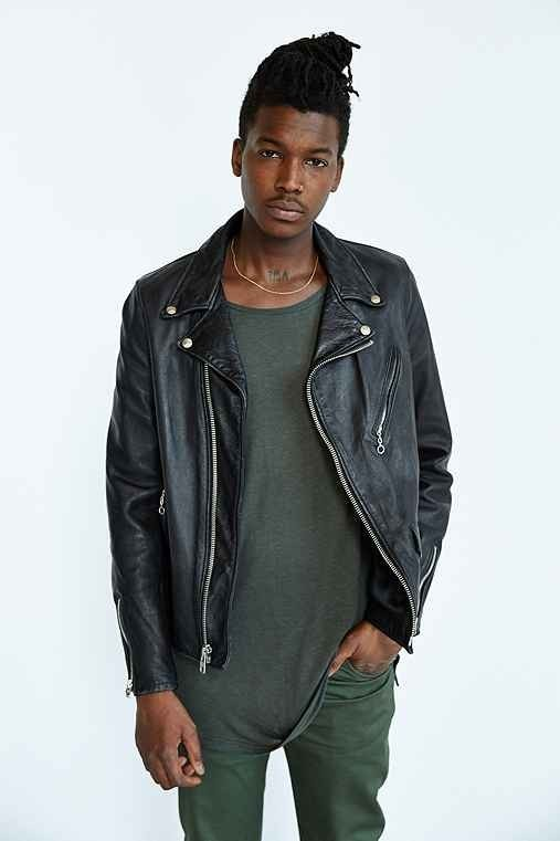 Urban Outfitters Schott X UO Beatdown Perfecto Leather ...