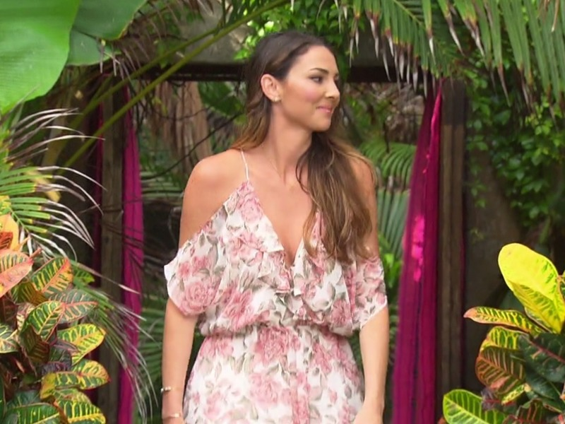 Jen Saviano's Floral Romper on Bachelor in Paradise