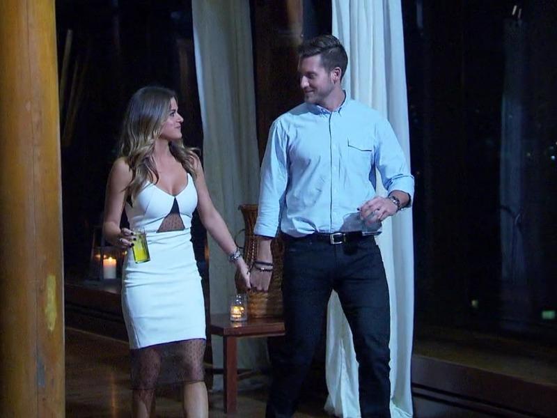 Jojo Fletchers White Mesh Inset Dress On The Bachelorette