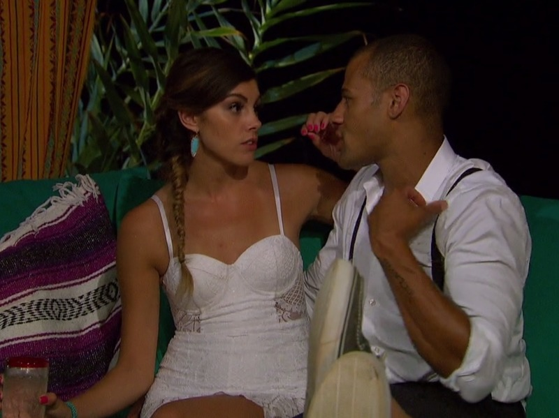 Lace Morris' White Lace Bustier Dress on Bachelor in Paradise